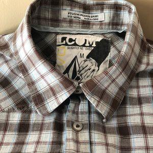 Volcom Men's Plaid Short Sleeve Shirt Size Medium